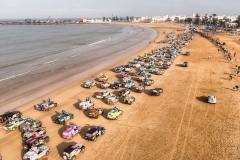 All the cars on the beach